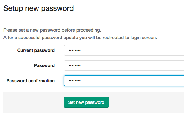 create password